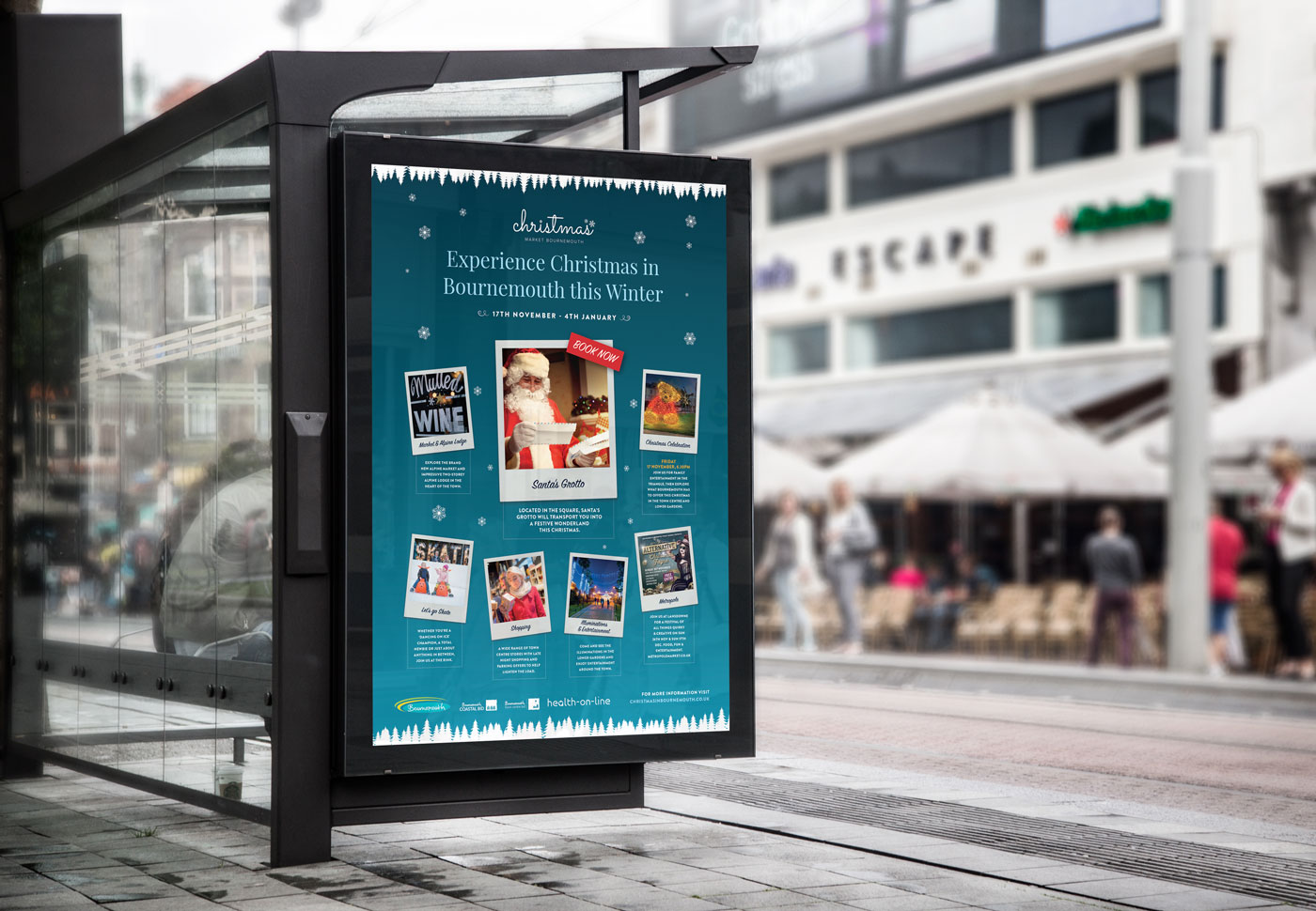 Christmas Bus Stop Poster