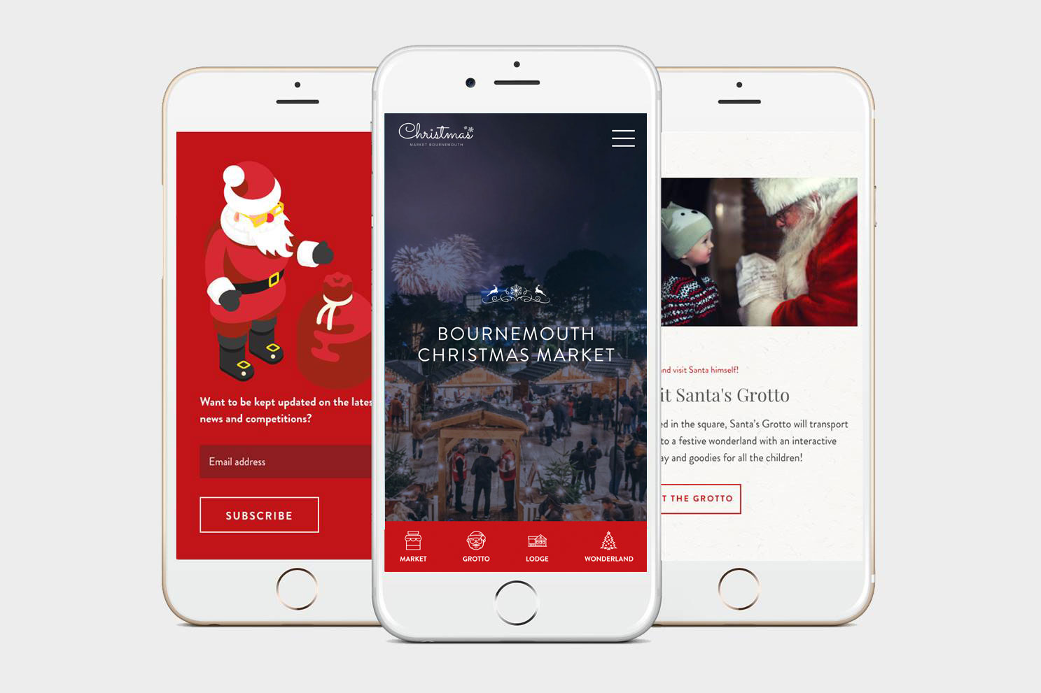 Christmas Website Project mobile view