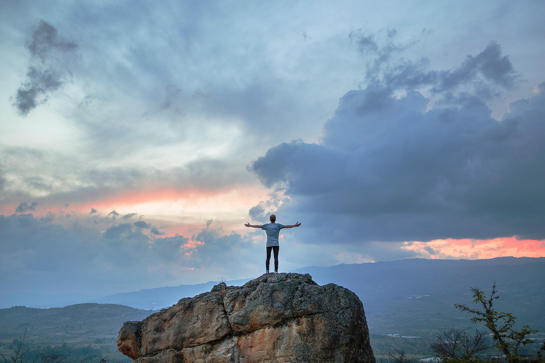 Ben Davidson on a mountain