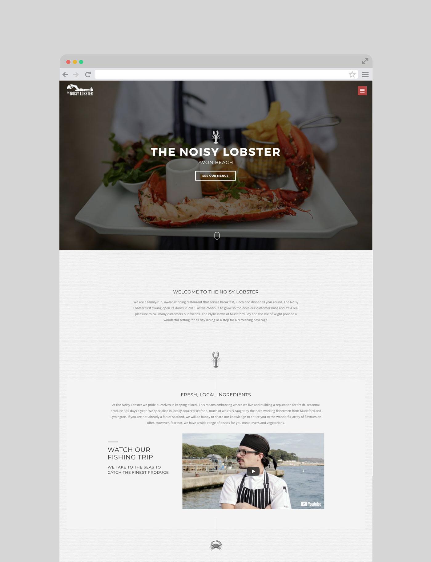 Noisy Lobster Website iso