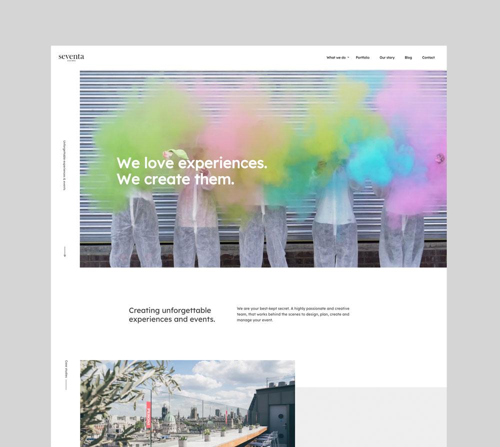 Seventa homepage