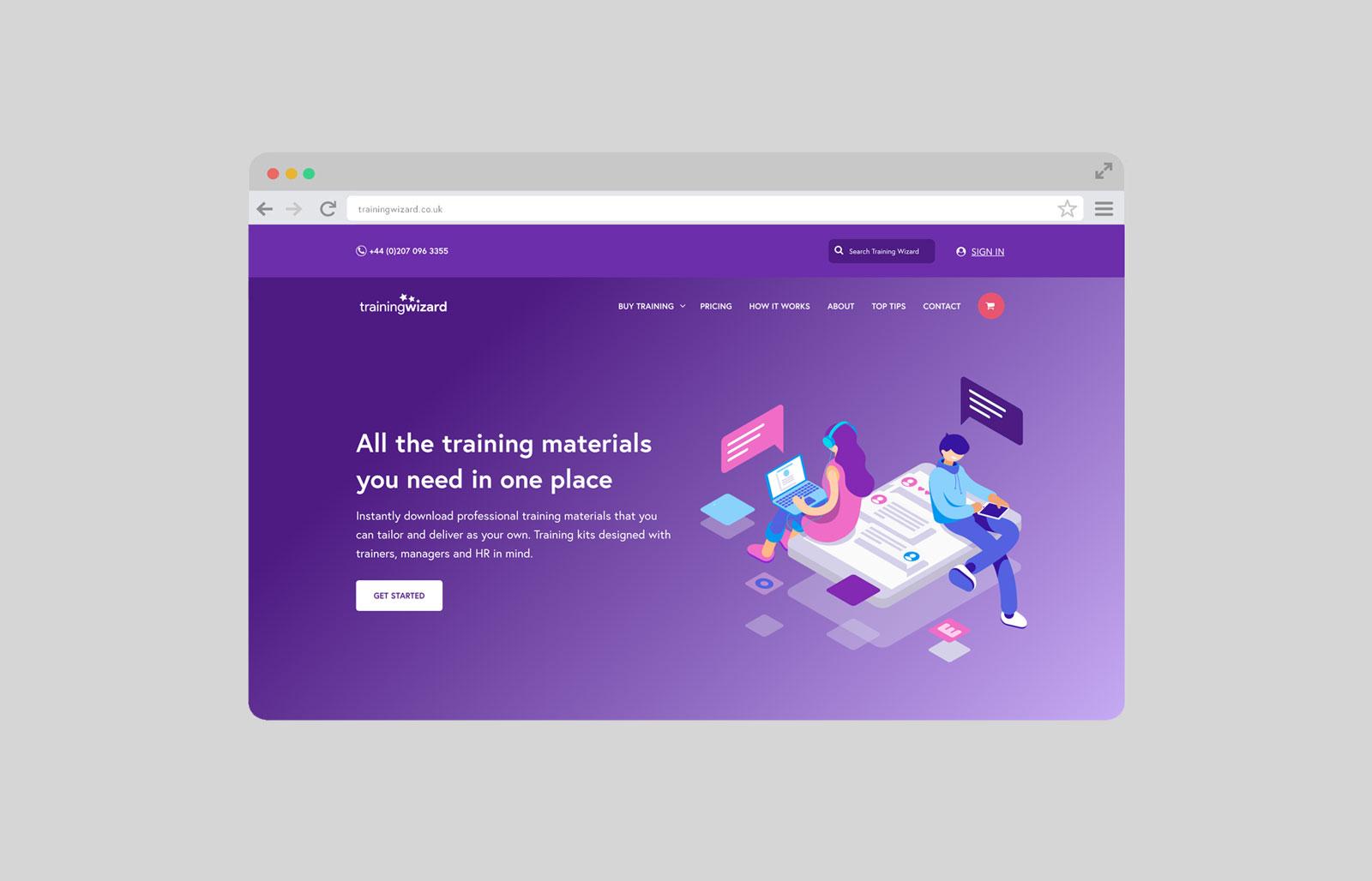Trainng Wizard Website