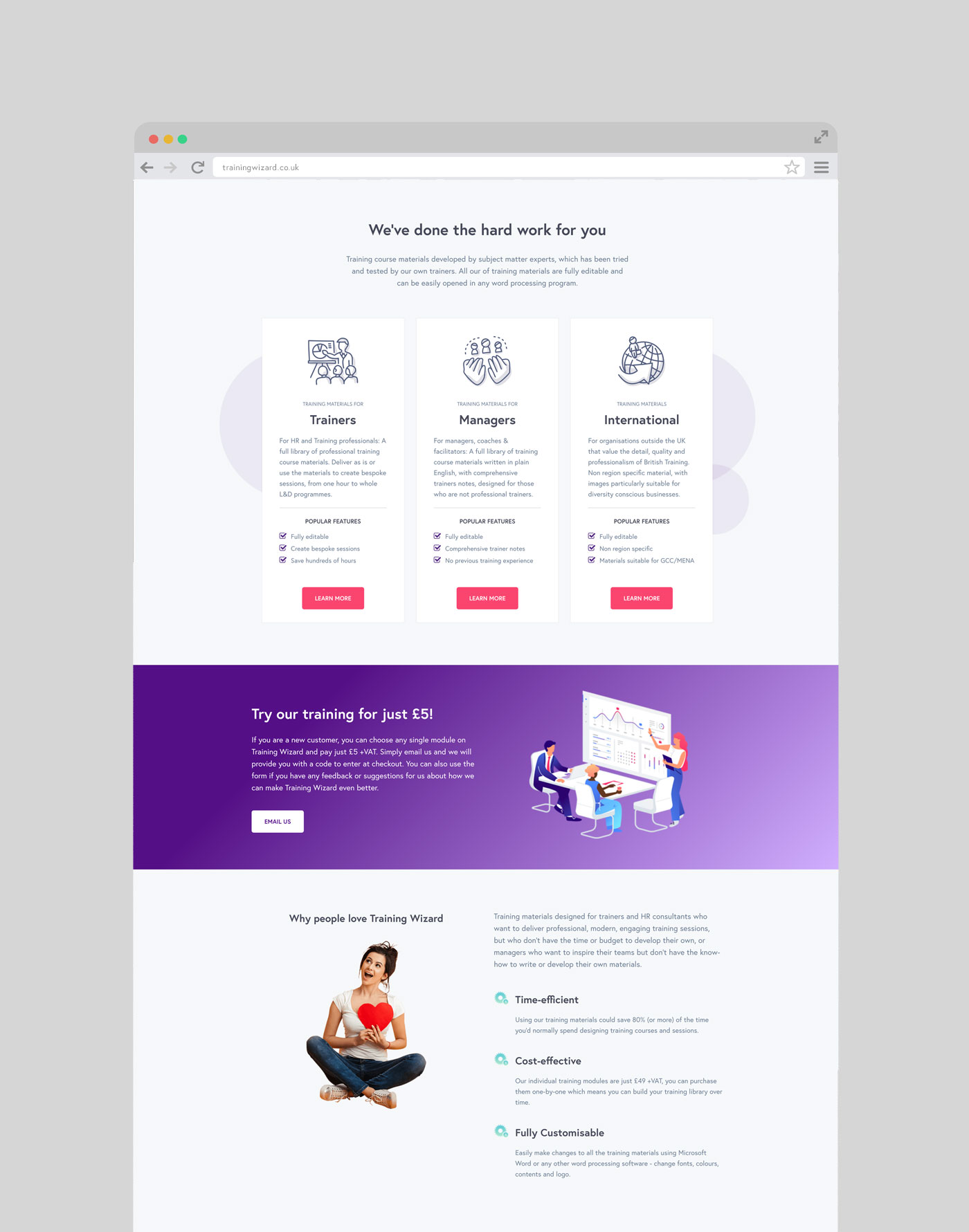 Training Wizard Website
